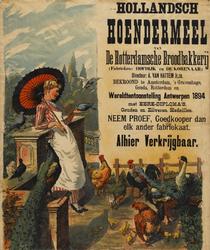 II-0000-0299 Hollandsch Hoendermeel van de Rotterdamsche Broodbakkerij. Fabrieken: Hofdijk en De Korenaar. Directeur A. ...