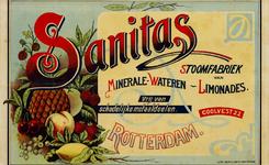II-0000-0327 Sanitas Stoomfabriek van minerale-wateren - Limonades. Coolvest 22, Rotterdam. Vrij van schadelijke metaaldelen.