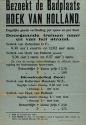 II-0000-0332A Bezoekt de badplaats Hoek van Holland. Dagelijks goede verbindingen per spoor en per boot. Doorgaande ...