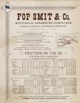 II-0000-0336 Fop Smit & Co. Rotterdam Watertochtjes. Dienstregeling 1895.