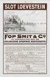 II-0000-0348 Fop Smit & Co. Rotterdam Dienstregeling Juni, Juli, Augustus, September 1911. Slot Loevestein. Waar Maas ...