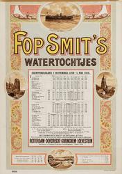 II-0000-0353 Fop Smit & Co. Rotterdam. Dienstregeling 1 november 1914-1 mei 1915. Watertochtjes. Wandelvaart door de ...
