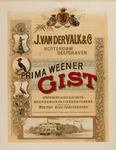 II-0000-0376 J. van der Valk & Co. Rotterdam. Delfshaven. Prima Weener Gist. Branders, distillateurs, brandewijn en ...
