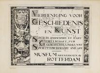 II-0000-0392 Vereeniging voor Geschiedenis en Kunst. Societe d'Histoire et d'Art. Gesellschaft für Geschichte und ...