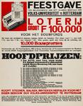 II-0000-0405 Feestgave ter gelegenheid van het 10-jarig bestaan der Volks-Universiteit te Rotterdam. Loterij groot f ...