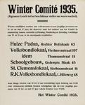 II-0000-0418 Winter Comité1935. Algemeen Comité tot het beschikbaar stellen van warm voedsel.