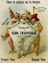 II-0000-0432 Gebr. 's Zwartendijk Rotterdam. Theehandel. Thee in pakjes en busjes. Opgericht 1808. Met goud bekroond ...