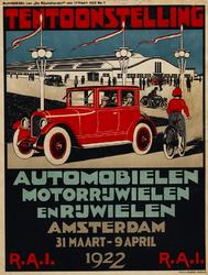 II-0000-0477 Tentoonstelling automobielen, motorrijwielen en rijwielen Amsterdam 31 maart-9 april 1922 R.A.I.
