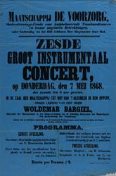 II-0000-0479 Maatschappij De Voorzorg...donderdag den 7 mei 1868, in de zaal der Maatschappij Tot Nut Van 't Algemeen ...