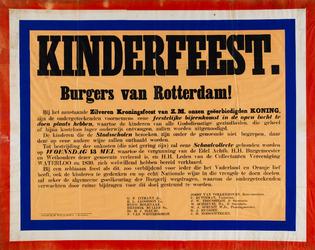II-0000-0481 Kinderfeest. Burgers van Rotterdam! (...) woensdag 13 mei (...) Collectanten Vereeniging Waterloo en 1830 ...