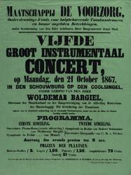 II-0000-0483 Maatschappij De Voorzorg... den 21 October 1867 in den Schouwburg op den Coolsingel, onder leiding van den ...