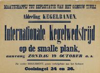 II-0000-0490 Maatschappij tot Exploitatie van het Gebouw Tivoli, Afdeeling Kegelbanen. Internationale kegelwedstrijd op ...