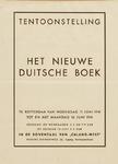 II-1941-0001 Tentoonstelling Het nieuwe Duitsche boek, 11 Juni t/m 16 Juni 1941. Caland-West, Nieuwe Binnenweg 20.