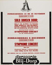 II-1942-0007 Zondagmiddag 22 en 29 november. Solo dansen door Nelly en Alfred Hiltmann, Anna Rimskaja, Han Reijnbeck, ...