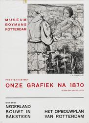 II-1942-0018 Museum Boymans. Nederland bouwt in baksteen; het opbouwplan van Rotterdam. Prentenkabinet: Onze grafiek na 1870.