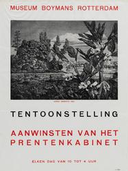II-1943-0011 Museum Boymans. Tentoonstelling Aanwinsten van het prentenkabinet.Arend Hendriks 1943.
