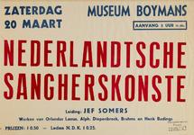 II-1943-0019 Nederlandtsche Sangherskonste. Leiding Jef Somers. Museum Boymans. 20 Maart 1943. Prijzen f 0,50. Leden ...