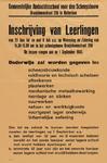 II-1943-0020 Gemeentelijke Ambachtsschool voor den Scheepsbouw. Inschrijving van leerlingen van 23 Juni t/m 9 Juli a.s. ...