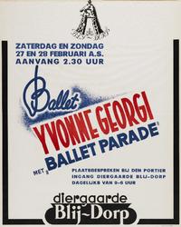 II-1943-0024 Dans. Ballet Yvonne Georgi met Ballet Parade . Diergaarde Blij-Dorp, 27 en 28 Februari.