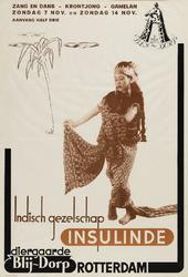 II-1943-0026 Folkloristische muziek. Indisch Gezelschap Insulinde . Zang en dans - Krontjong - Gamelan. 7 en 14 ...