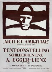 IX-1956-0052 Arti et Amicitiae. Tentoonstelling schilderijen enz. A. Egger-Lienz 1868-1926. 14 Nov. t/m 13 Dec.