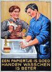 VIIIS-0000-0062 Een papiertje is goed; handen waschen is beter. Veiligheids Museum No. 113.