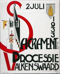 X-0000-0109 2 Juli 1933. Sacraments Processie Valkenswaard.