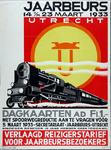X-0000-0194 Jaarbeurs Utrecht 1933. Dagkaarten ad. f.1.- met spoorwegreductie, aan te vragen vóór 5 Maart. Verlaagd ...