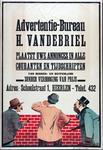 X-0000-0288 Advertentiebureau H. van de Briel. Plaatst uwe annonces in alle couranten en tijdschriften van binnen- en ...
