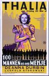 X-0000-0466 Thalia. 100 mannen en een meisje met Deanne Durbin. Leopold Stokowski, Deanne Durbin.