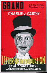 X-0000-0471 Grand. Charley Mc Carthy. Letter of Introduction. Adolphe Menjou & Andrea Leeds.