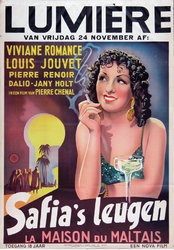 X-0000-0492 Lumière. Viviane Remance, Louis Jouvet, Pierre Renoir, Dalie, Jany Chenal, Sofia's Leugen.