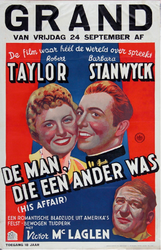 X-0000-0499 Grand. Robert Taylor, Barbara Stanwyck. De man, die een ander was. (His affair).