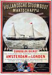 X-0000-0516 Hollandsche Stoomboot Maatschappij. Geregelde dienst van snelvarende stoomschepen tusschen Amsterdam en ...