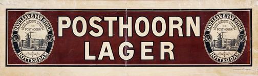 X-0000-0539 Posthoorn lager. Havelaar & Van Stolk, Lager Bierbrouwerij De Posthoorn in de 2e Lombardstraat.