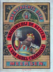 X-0000-0547 Maastrichts Bier Brouwerij De Keizer. L. van Aubel-Chambille, Meersen.