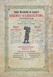 X-0000-0609 Nederl. Maatschappij tot Algemeene Dienstverrigting Rotterdam. Opgericht 1 Mei 1865. Directeur: Emil Lüning.