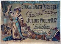 X-0000-0611 Stoom Kunst-Ververij, Chemische Wasscherij van Julius Wulff & Co., Haarlem.