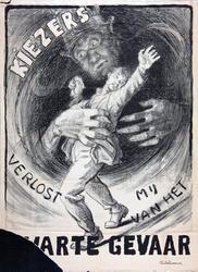 XIII-1960-0070 Kiezers verlost mij van het Zwarte Gevaar.