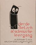 XIV-1961-0572 Derde Dietsch Academische Leergang. Amsterdam - Wageningen. 14-19 Maart 1962.