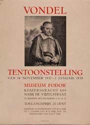XIV-1961-0575 Vondel-tentoonstelling, Museum Fodor, Amsterdam. (14-11-1937 tot 2-1-1938).