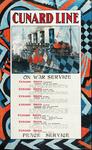 XV-1962-0079 Cunard Line. On war service. Peace service.