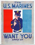 XV-1962-0092 Wervingsplaten Amerikaansche Leger en Marine voor de oorlog '14-'18.