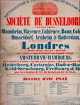 XVII-1964-0312 Sociétéde Dusseldorf. Service entre Mannheim, Mayence, Coblence enz.enz. par les paquebots à vapeur de ...