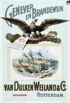 XX-1967-0168 Van Dulken Weiland & Co. Genever en brandewijn. Distillateurs, Rotterdam. Opgericht 1790. Fabrieksmerk De Arend.