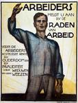 XXI-1968-0231 Arbeiders meldt U aan bij de Raden van Arbeid voor de arbeiders kosteloze rente bij ouderdom en bij ...