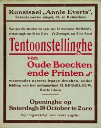 XXII-1970-0251 Kunstsael Annie Everts , Schiedamse Singel 35 te Rotterdam. Van den 18n October tot ende met 7n November ...