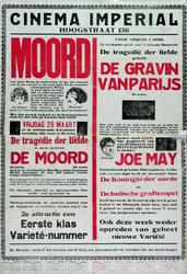 XXII-1971-0050 Cinema Imperial. Hoogstraat 136. 'Moord'.... vrijdag 28 maart.... De tragedie der liefde. 1e serie ...