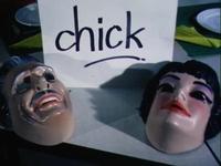 BB-4442 Speelfilm. Avonturen van een gebraden kip die aan hongerige eters probeert te ontkomen, de acteurs dragen ...