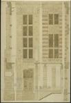 XII-34-01-89 Ontwerp voor het stadhuis te Rotterdam [niet uitgevoerd]: plattegrond begane grond en hoofdverdieping.